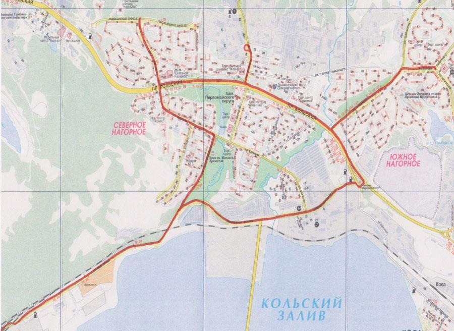Маршрут Мурманск 51 Регион
